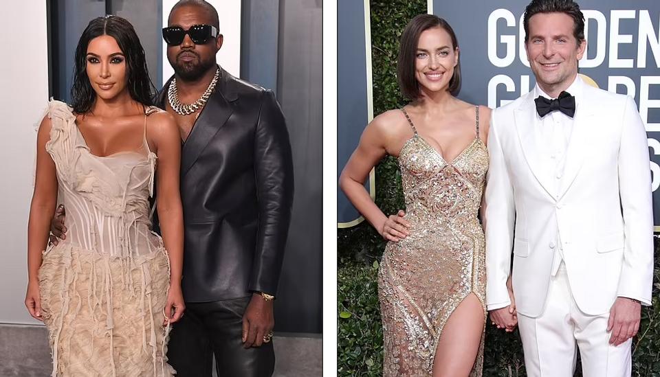 Kanye a Kim, Irina a Bradley