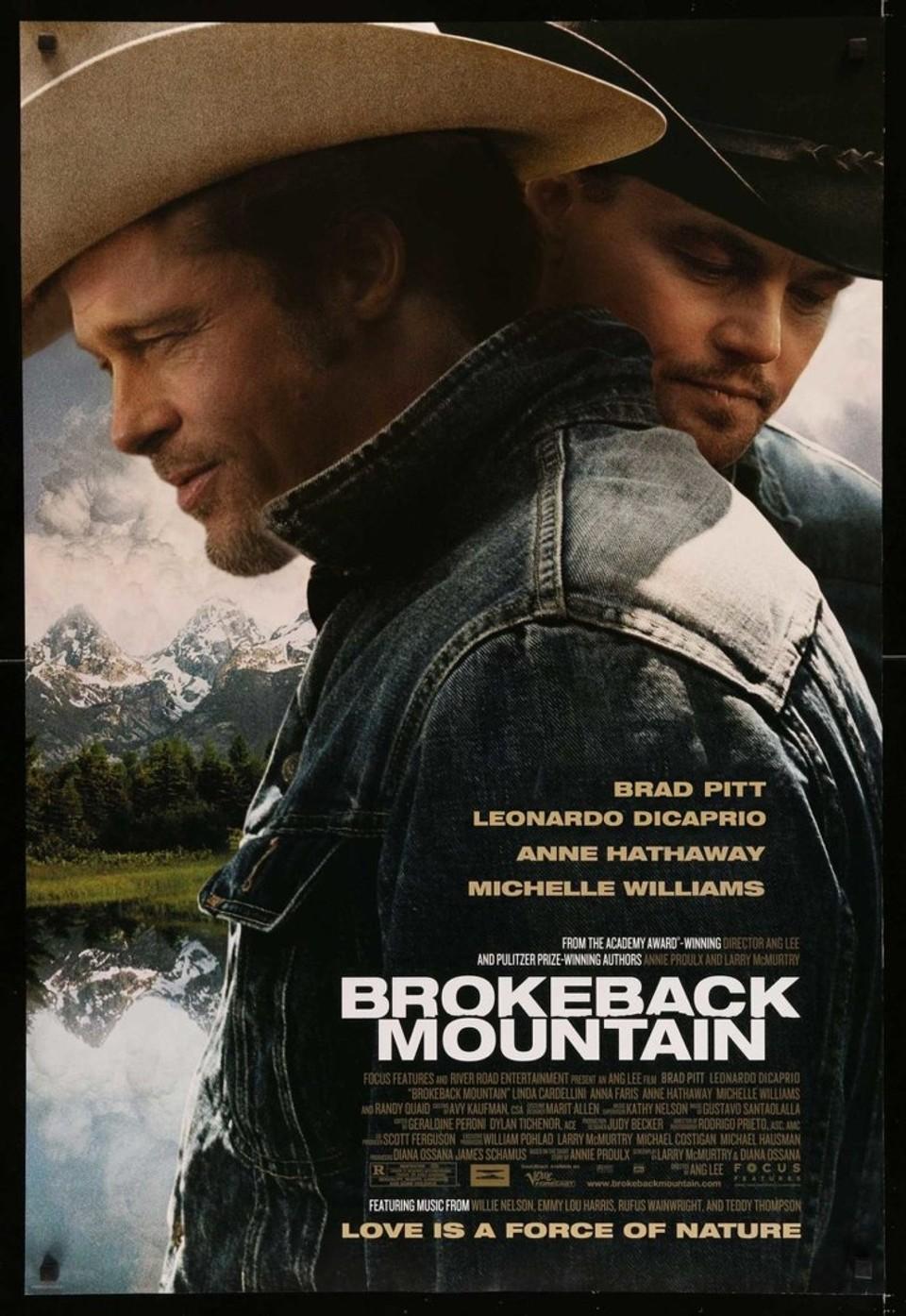Leonardo DiCaprio a Brad Pitt v Skrotenej hore - Hrali to nakoniec Heath Ledger a Jake Gyllenhaal