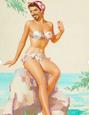 Robert Downey Jr. ako pin-up modelka
